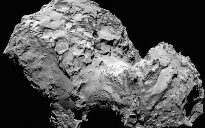 View of the Churyumov-Gerasimenko comet (Photo credit: ESA)