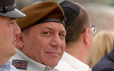 Gadi Eisenkot attends a Memorial Day ceremony in May 2014. (Gili Yaari/Flash90)
