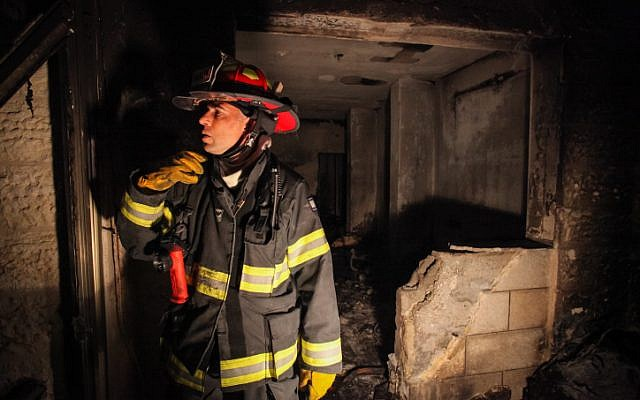 Illustrative photo of a firefighter (Flash90)