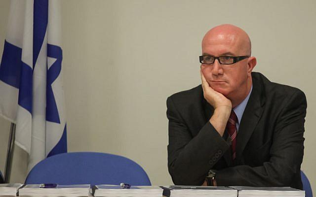 Acting Hadassah board of directors chairman Avi Balashnikov at the Health Ministry in Jerusalem on June 24, 2014. (photo credit: FLASH90)
