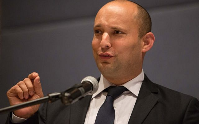 Jewish Home party leader Naftali Bennett. (Photo credit: Noam Revkin Fenton/Flash 90)
