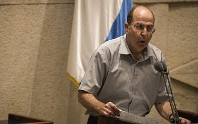 Defense Minister Moshe Ya'alon at the Knesset. (Photo credit: Hadas Parush/Flash90)