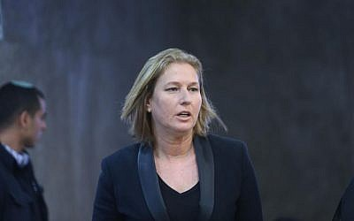 Tzipi Livni on November 2, 2014. (photo credit: Alex Kolomoisky/Flash90/pool)