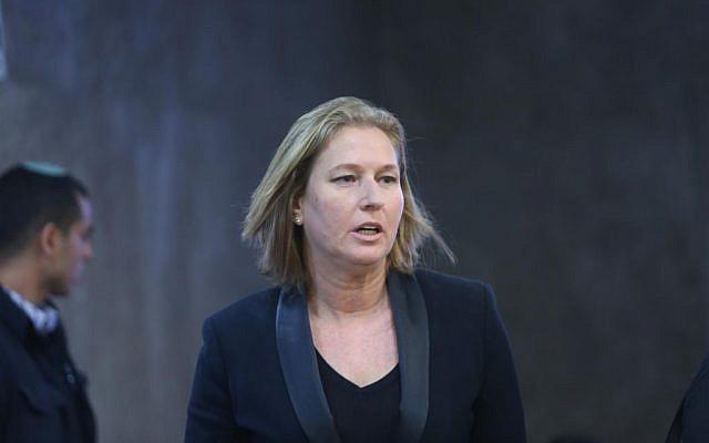 Tzipi Livni on November 2, 2014. (photo credit: Alex Kolomoisky/Flash90/pool)