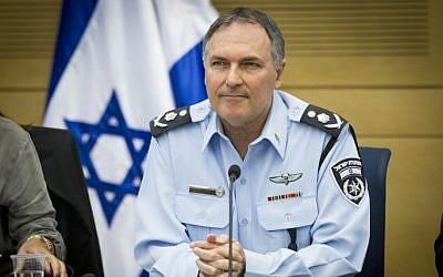 Israel Police chief Yohanan Danino attends an Interior Affairs meeting in the Knesset, November 2, 2014. (photo credit: Miriam Alster/Flash90)