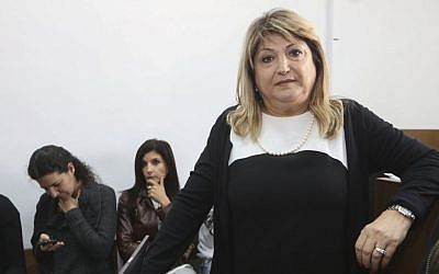 Shula Zaken at the Jerusalem District court on November 3, 2014. (Gili Yohanan/POOL)