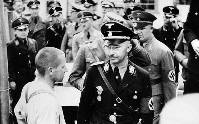 Heinrich Himmler at Dachau in 1936. (Friedrich Franz Bauer/Wikimedia Commons/German Federal Archive)