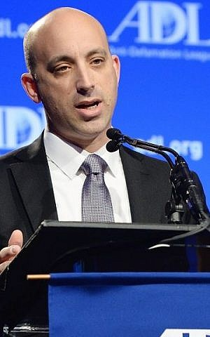 Jonathan A. Greenblatt, the next National Director of the Anti-Defamation League, speaking at the ADL Annual Meeting in Los Angeles on November 6, 2014. photo credit: Courtesy ADL)