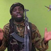 Nigeria's Boko Haram leader Abubakar Shekau in a video from May 12, 2014. (AP Photo/File)