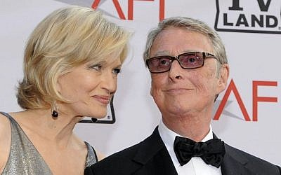 Journalist Diane Sawyer and her husband director Mike Nichols arrive at the AFI Lifetime Achievement Awards in this June 10, 2010 photo taken in Culver City, Calif.  (photo credit: AP/Chris Pizzello)