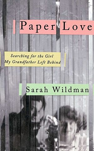 'Paper Love' is journalist Sarah Wildman's new book. (Penguin Riverhead/JTA)