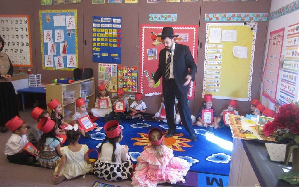 A class at Torah Day School, an Orthodox school in Phoenix. (Courtesy Torah Day School/JTA)