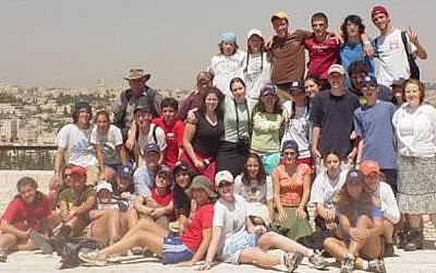 Illustrative: American Hebrew Academy kids on a hike in Israel. (Courtesy)