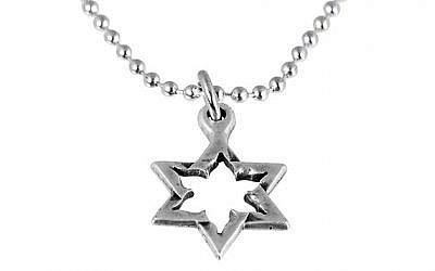 Star of David necklace made from Kassam rocket (photo: Courtesy)