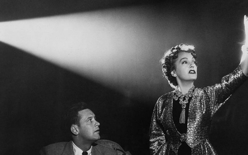 William Holden and Gloria Swanson in 'Sunset Boulevard' made by the writer-director Billy Wilder, an Austrian Jew who fled Berlin for Hollywood. (via JTA)