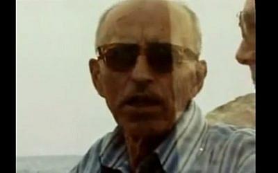 SS captain Alois Brunner (screen capture: YouTube)