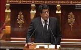 MP Meyer Habib speaks at the National Assembly in Paris, November 28, 2014. (screen capture)