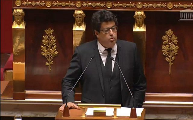 MP Meyer Habib speaks at the National Assembly in Paris, November 28, 2014 (screen capture)
