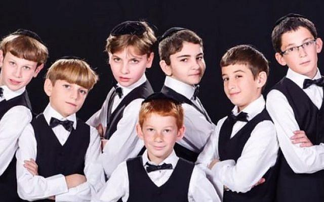 The Kinderlach boys choir.  (screen capture: YouTube/KinderlachOfficial)