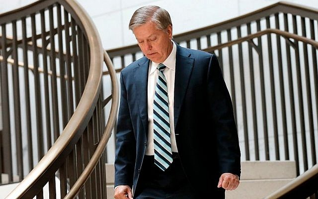 Sen. Lindsey Graham, shown in Washington on July 30, 2014, is backing an initiative that would require congressional approval of any nuclear deal signed with Iran. (Photo credit: Win McNamee/Getty Images)