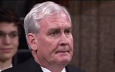 The Canadian Parliament's sergeant-at-arms Kevin Vickers (Photo credit: Youtube screen capture)