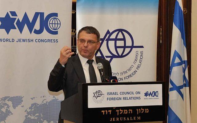 Czech Foreign Minister Lubomír Zaorálek in Jerusalem, November 5, 2014 (photo credit: Andras Lacko)
