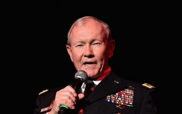 File: Chairman of the Joint Chiefs of Staff General Martin Dempsey speaks at the 'Stand Up for Heroes' event at Madison Square Garden in New York City, on November 5, 2014. (Andrew H. Walker/Getty Images/AFP)