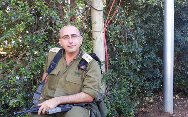 Lt. Col. Dr. Adi Leiba during a recent interview in ancient Shilo (photo credit: Adi Leiba/ IDF Spokesperson's Unit)