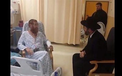 Rabbi Yehudah Glick and Ashkenazi Chief Rabbi David Lau November 17, 2014 (YouTube screenshot)