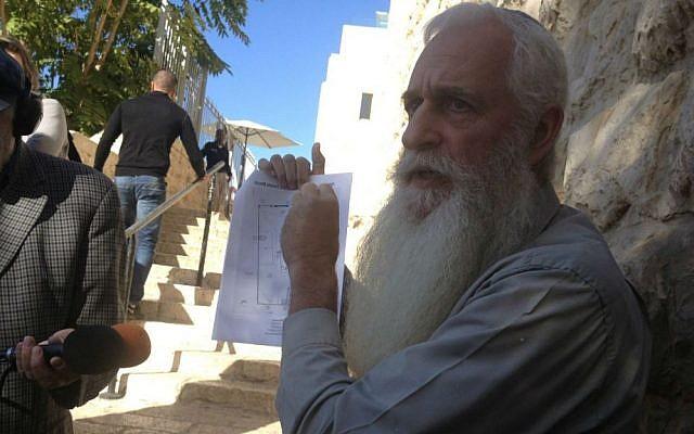 Temple Mount activist Yaakov  Heyman (photo credit: Mitch Ginsburg/ Times of Israel)