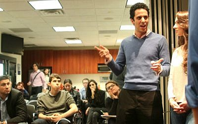 Etan Harris debates in a recent role-play session for Fuel Fort Truth (courtesy)