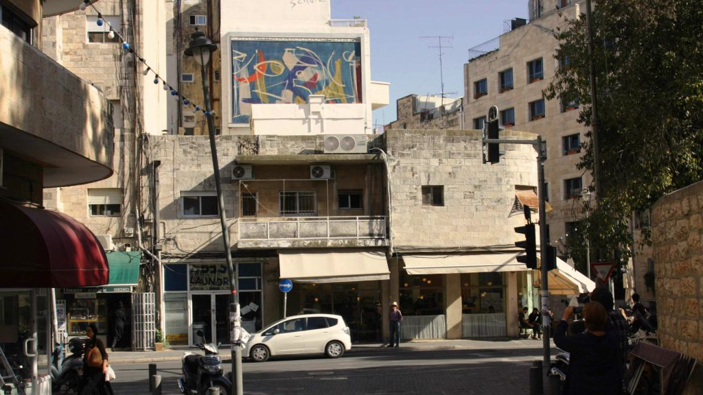 Changing exhibit on Shmuel HaNagid Street (photo credit: Shmuel Bar-Am))