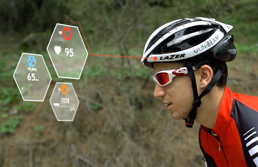 LifeBEAM bike helmet (Photo credit: Courtesy)