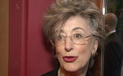 British actress Maureen Lipman during a 2014 interview (screen capture: YouTube/Red Carpet News TV)