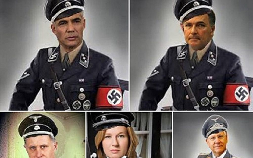 Israeli expat in US suspected of depicting politicians as Nazis   The Times  of Israel