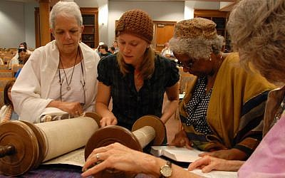 A Torah reading at Adas Israel Congregation, a Conservative synagogue in Washington. (Courtesy Adas Israel)