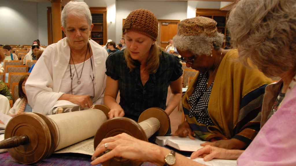 A Torah reading at Adas Israel Congregation, a Conservative synagogue in Washington. (Courtesy Adas Israel)