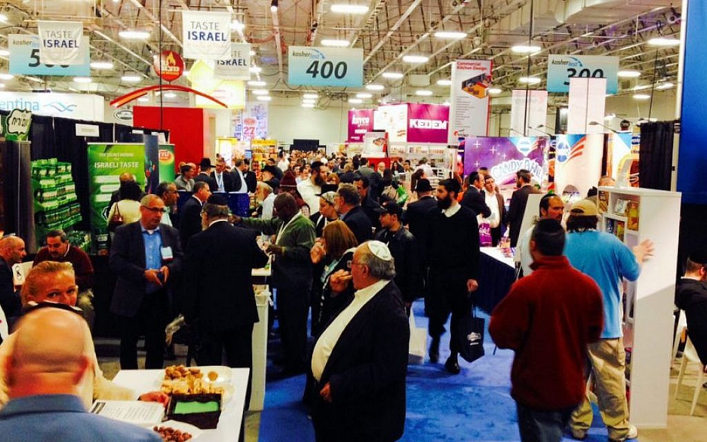 At mid-November's Kosherfest, the world's largest Kosher food trade show. (Jesse Lempel/The Times of Israel)