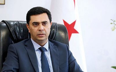 Özdil Nami, the foreign minister of the Turkish Republic of Northern Cyprus (photo credit: courtesy Turkish Republic of Northern Cyprus, Ministry of Foreign Affairs)