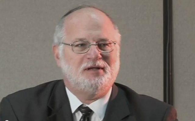 Rabbi Steven Pruzansky of Congregation Bnai Yeshurun in Teaneck, New Jersey (screenshot: YouTube)