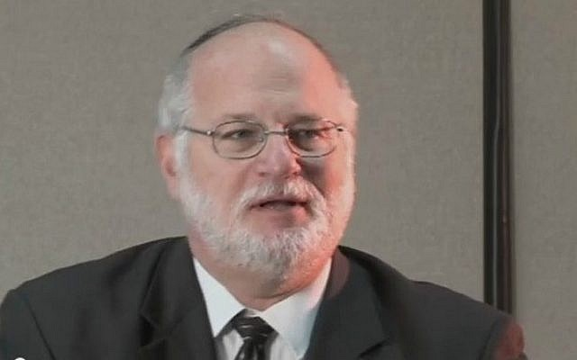 Rabbi Steven Pruzansky of Congregation Bnai Yeshurun in Teaneck, New Jersey (screen capture: YouTube)