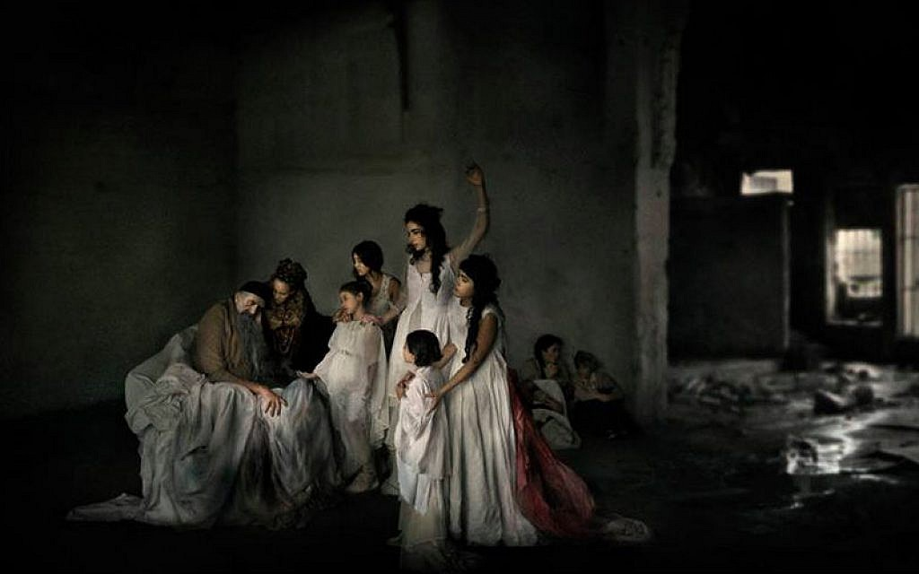 Illustrative: Michal Baratz Koren's portrait of the five daughters of Zelophehad, who first raised before Moses the case of a woman's right and obligation to inherit property in the absence of a male (Courtesy, Michal Baratz Koren)