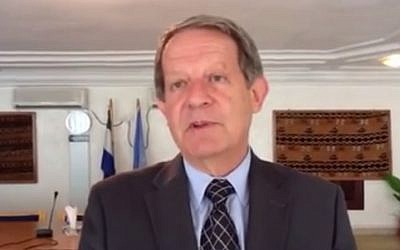 UN Assistant Secretary-General Jens Toyberg-Frandzen (screen capture: YouTube)