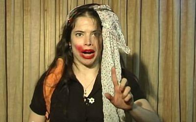 Controversial actress Natali Cohen Vaxberg (YouTube)