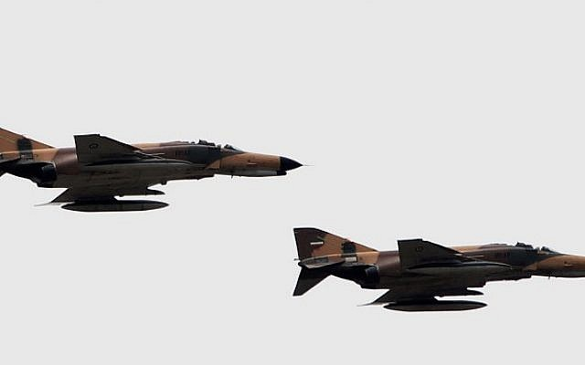 Illustrative photo: US-made F-4 Phantom fighter jets from the Iranian air force. (AFP Photo/Behrouz Mehri)