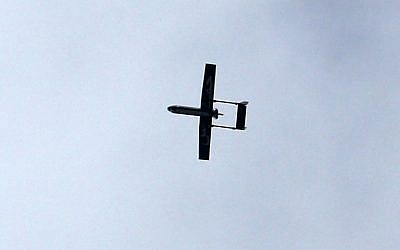Fimage of a drone (AFP PHOTO / MAHMUD HAMS)