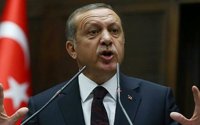 President Recep Tayyip Erdogan (photo credit: AFP)