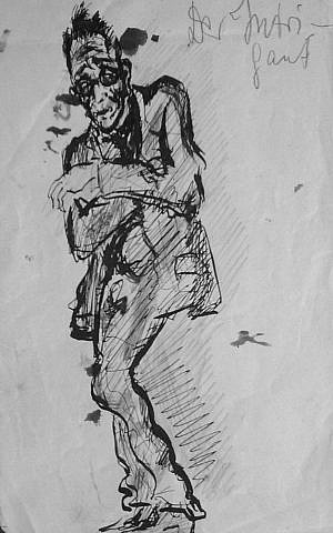Fritz Ascher's 'The Intriguer,' ca1913, black ink on paper (Private collection)