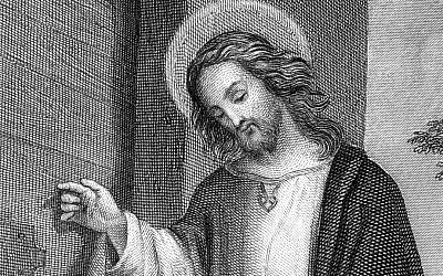 Illustrative: A scan of a German, 19th century steel engraving of Jesus Christ (Public domain work of art)