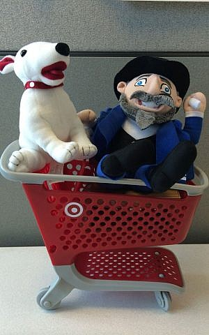 Mensch on a Bench can now be found in your local Target. (courtesy)